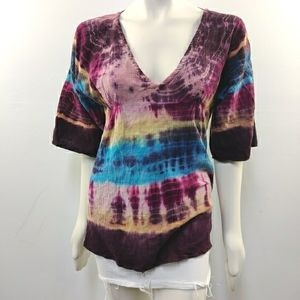Gypsy rose cotton the dye festival tunic top